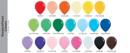 colour chart standard
